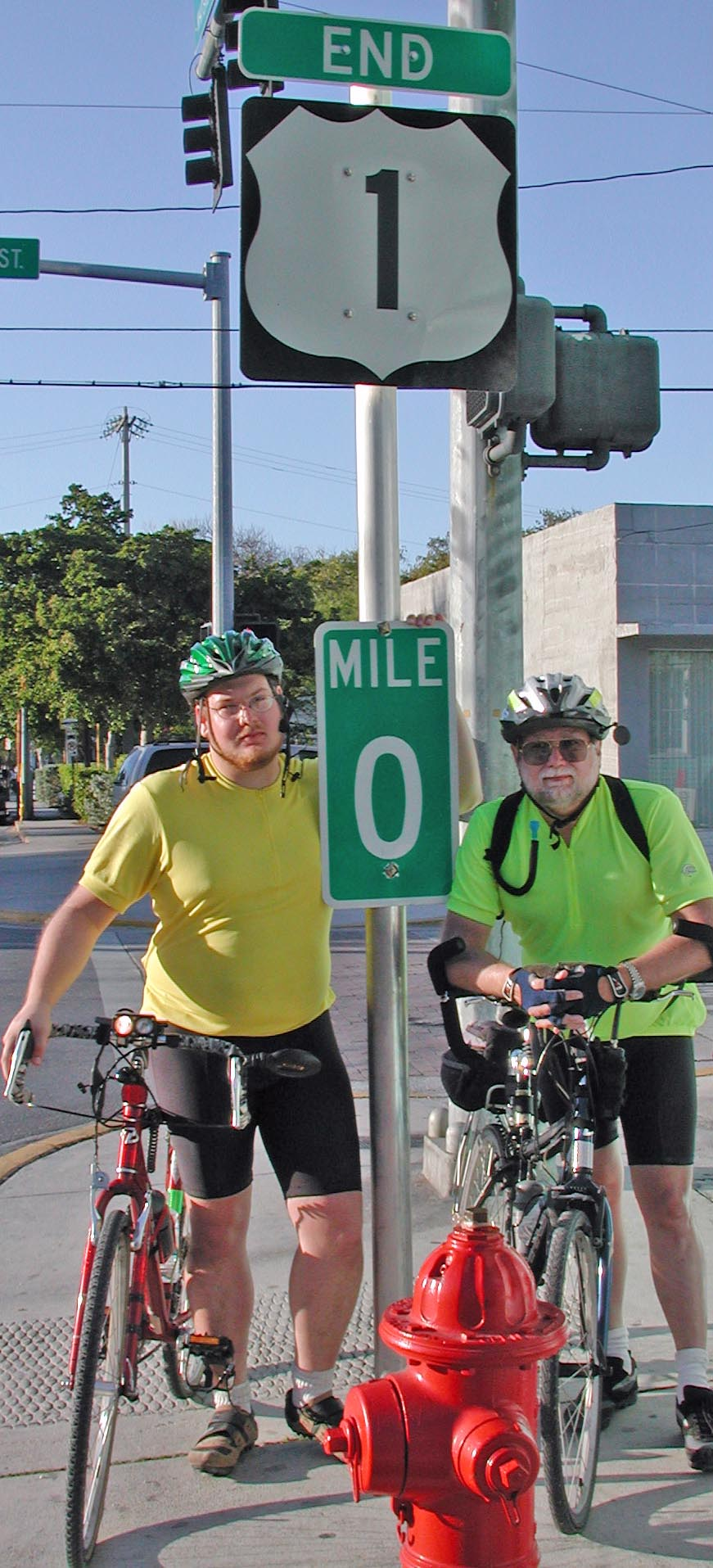 Matt and Ken Steinhoff at the End of the 100-Mile Florida Keys Ride