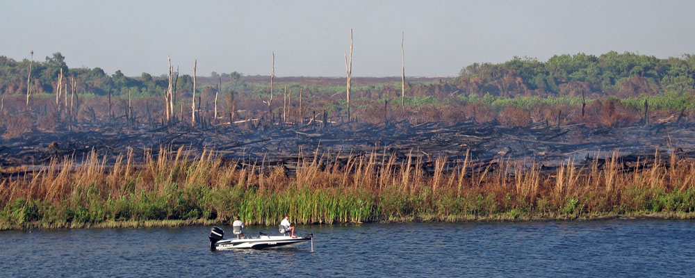 LOST on Fire: Fishermen ignore the burned-out area