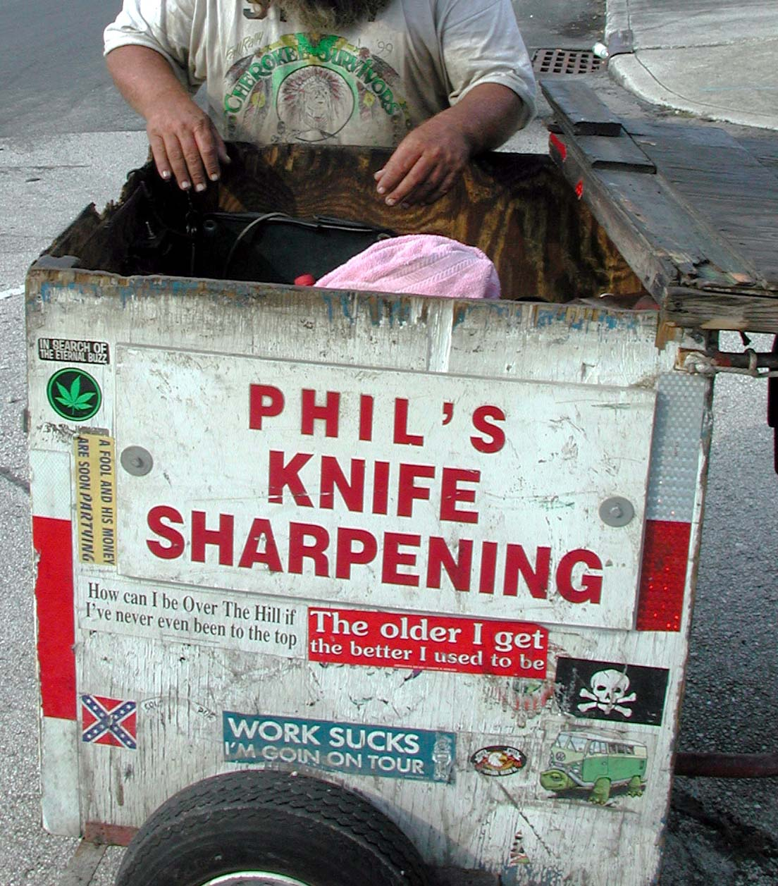 Closeup of Phil\'s trailer