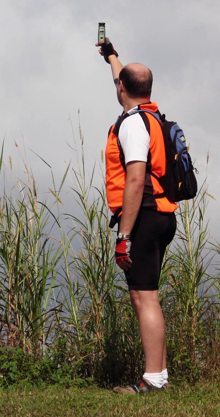 Matt checks the wind at Port Mayaca