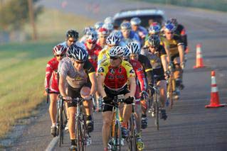 Riding with Lance Armstrong in Texas in 2005