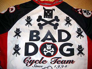 Bad Dog bike jersey after hitting the road hard