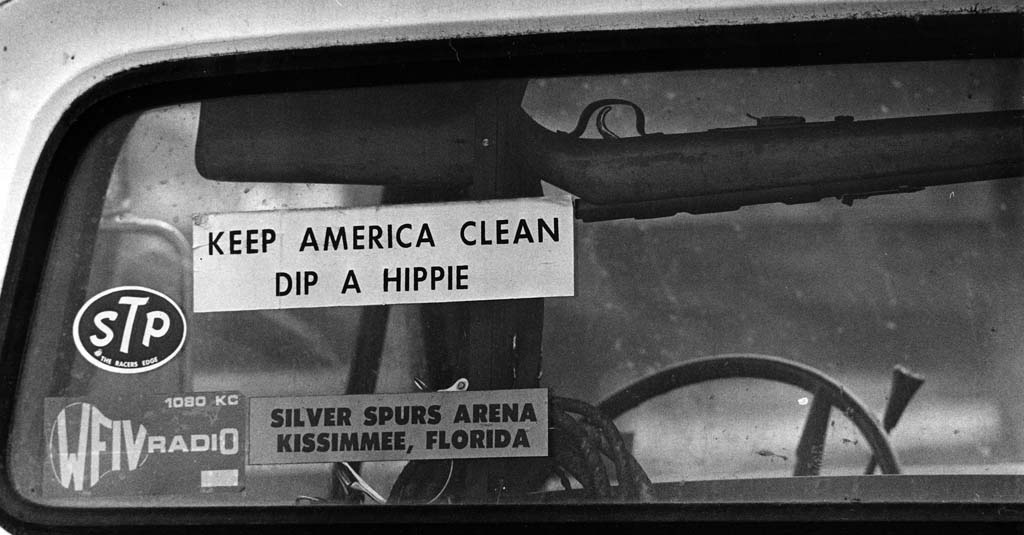 Dip A Hippie bumper sticker may signal aggressive driver