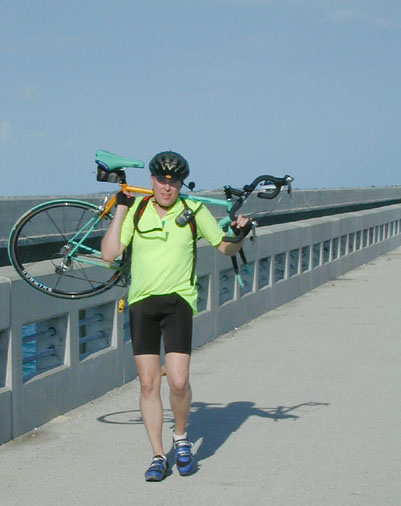 Got a Flat, Walking Across the Seven Mile Bridge
