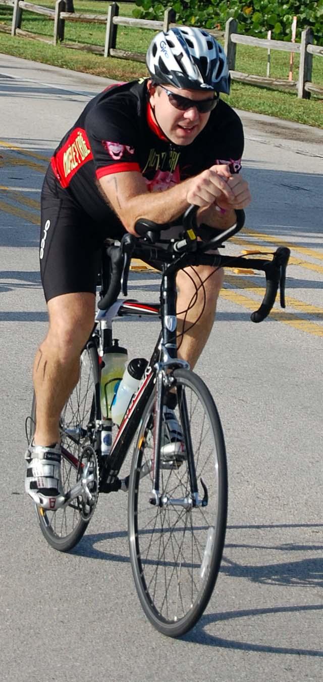 Scott Maulsby rides Loggerhead Triathlon
