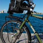 Surly LHT front showing Arkel Handlebar bag