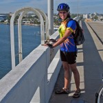 Mary Garita on the Blue Heron Bridge in Riviera Beach, FL