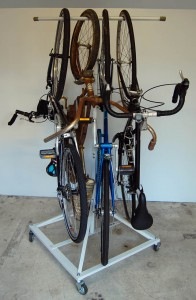Harbor Freight Cycle Tree with four bikes on it