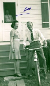 Mary and L.V. Steinhoff in Rolla, MO, with bike