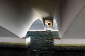 Underneath the Royal Park Bridge to Palm Beach