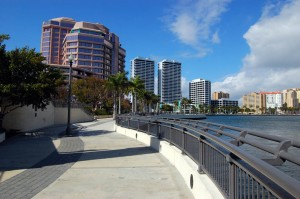 View of West Palm Beach skyline from north side of Royal Park Bridge