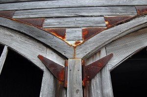 Rusted flashing adds to the appeal