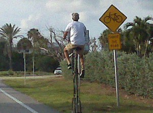 High bike on A1A in Delray Beach, FL