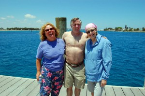 Jan, Bob and Laura at the Palm Beach Inlet