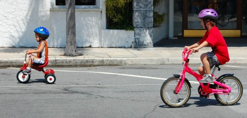Kids of all ages participated in the Lake Worth FL Bike Rodeo