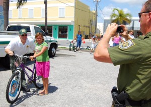 Six bikes were raffled off at the Lake Worth Bike Rodeo