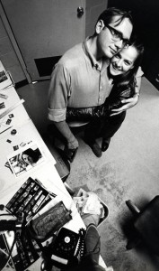 Ken Steinhoff, Lila Pery in Athens Messenger Photo Lab 1969