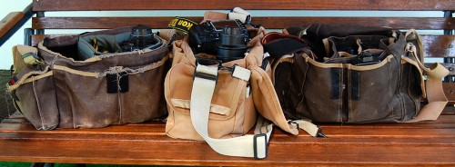 Three generations of Domke bags 500x184 Domke Photo Vest Lives Up to Expectations