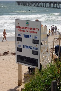 Lake Worth Beach Lifeguard sign