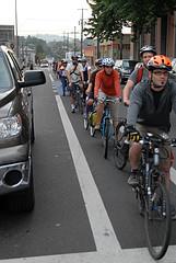 Portland bike traffic jam