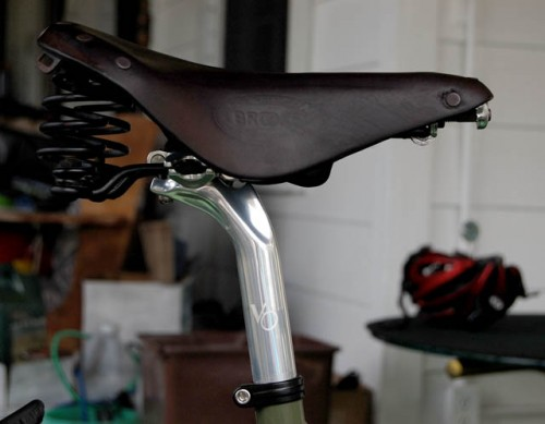 Brooks Champion Flyer on Velo Orange Grand Cru seat post