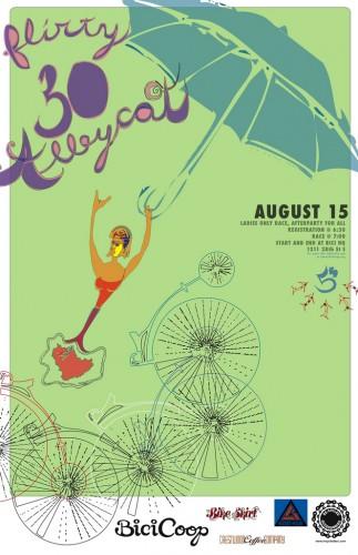 BikeSkirt Flirty 30 Alleycat Poster