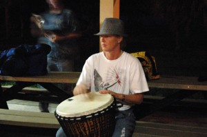 Drummer at Lake Worth Full Moon Drum Circle