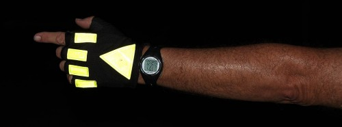 Glo Gloves make your signals visible under low light
