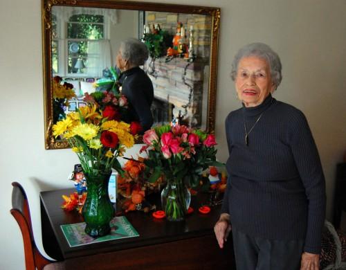 Mary Welch Steinhoff on her 88th birthday