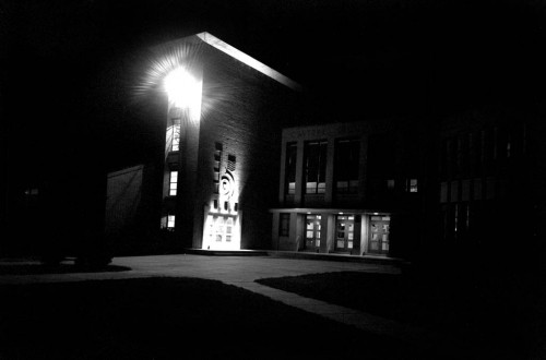 Cape Girardeau (MO) Central High School at night circa 1964