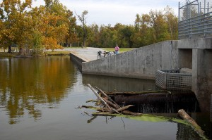 Spillway at Horseshoe Lake in southern Illinois