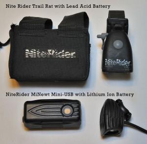 NiteRider Trail Rat versus NiteRider MiNewt Mini-USB
