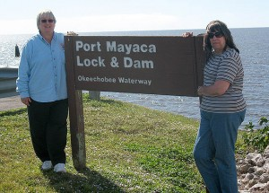 Carol and Peggy provided support on the Lake Okeechobee ride