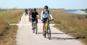 Patrick and Yenz lead the pack into the Clewiston Marina