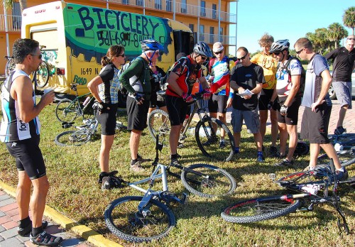 Lake Okeechobee Adventure riders go over plans for ride