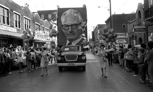 1964 Southeast Missouri State College Homecoming Parade Goldwater float